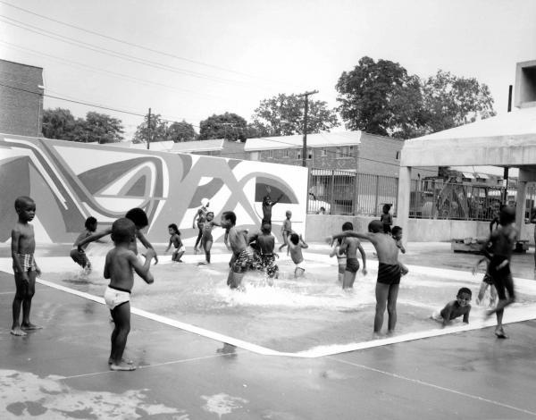1969_Children Playing in Pool, Haffen Park, The Bronx.jpg