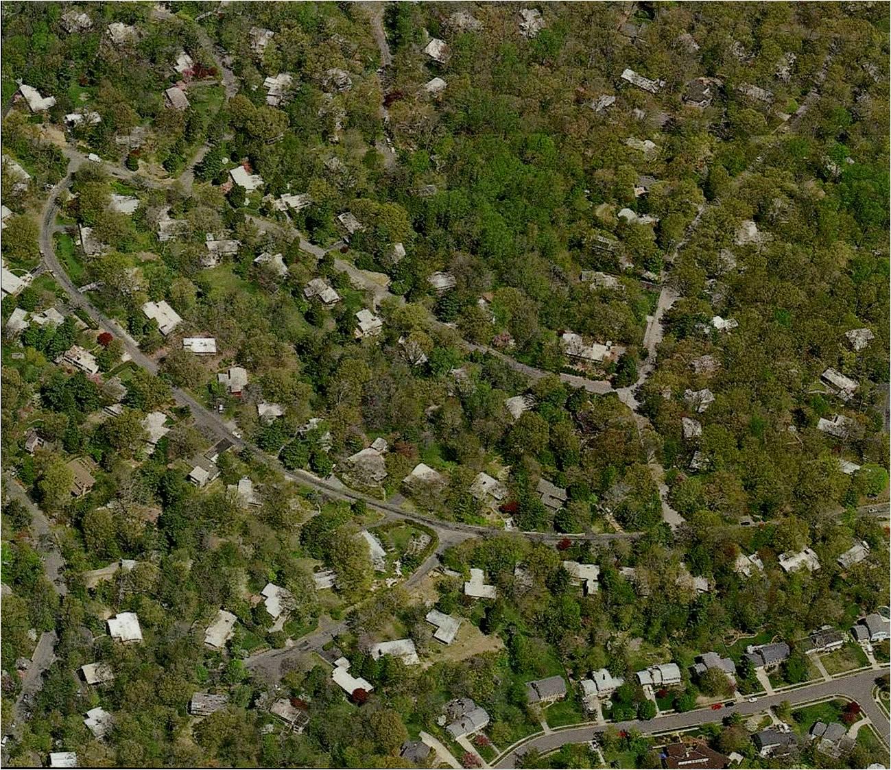 Hollin Hills aerial