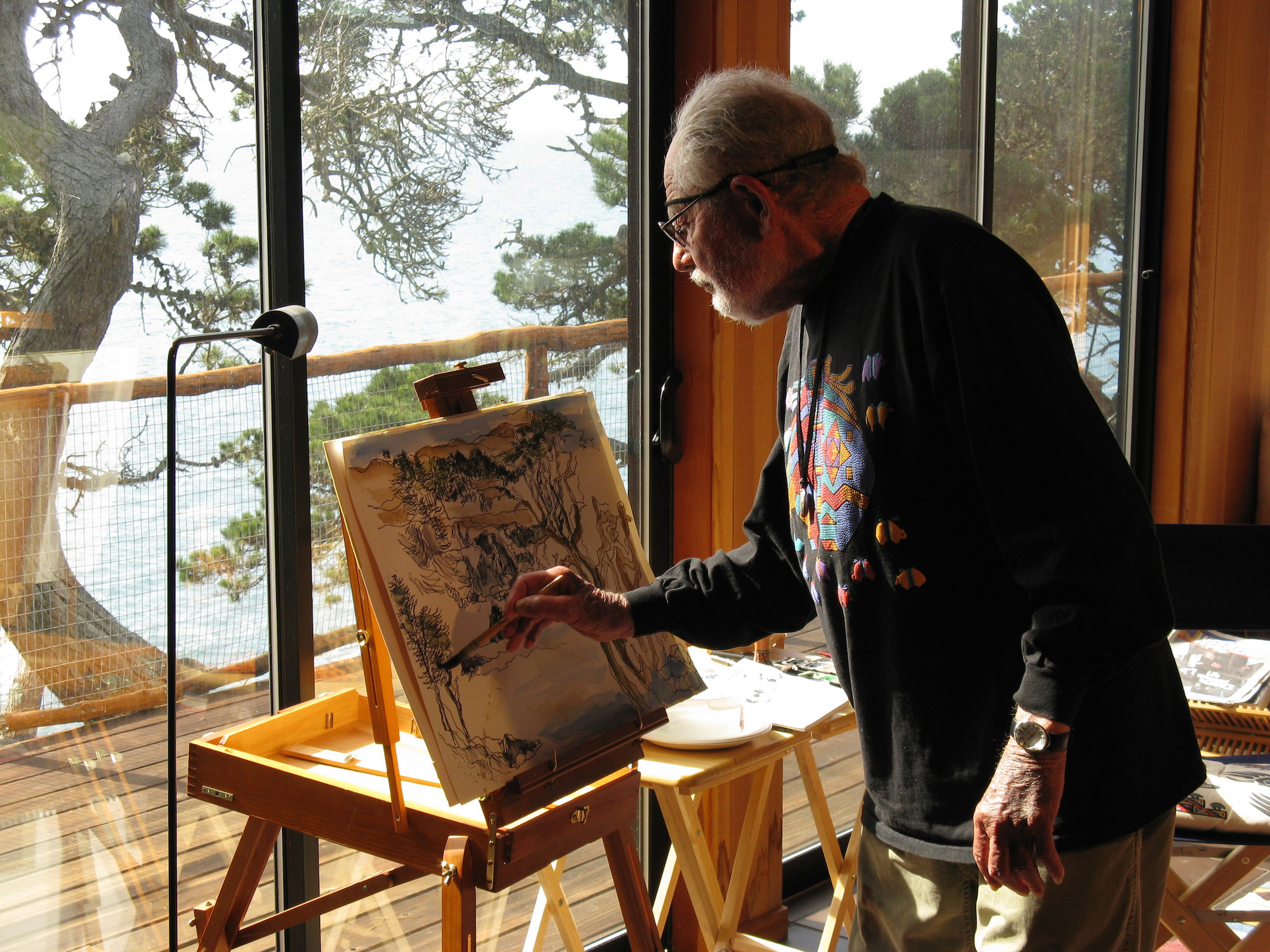 Lawrence Halprin at home, Sea Ranch, CA, 2008. Photograph © Charles A. Birnbaum, courtesy The Cultural Landscape Foundation-LO RES.jpg